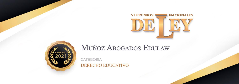 Muñoz Abogados Edulaw, galardonado por Premios de Ley en el ámbito del Derecho Educativo